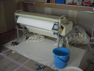 壁紙のり付け機